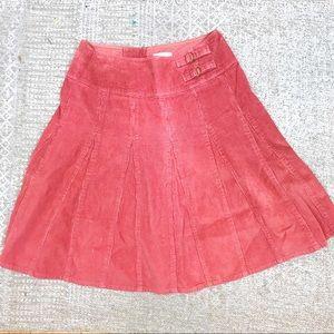 Garnet Hill women's skirt pink corduroy size 6